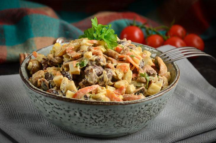 салат с грибами на праздник